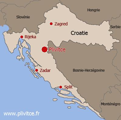 Carte Croatie Lieux Dinteret.Parc National Des Lacs De Plitvice Croatie
